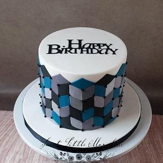 Geometric Birthday Cake