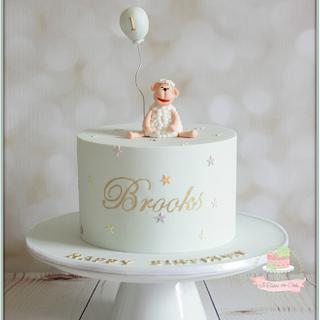 Sheep 1st birthday - Cake by Jo Finlayson (Jo Takes the Cake)