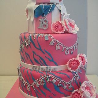 Charm bracelet cake