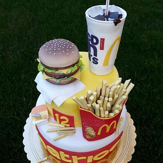 Torta Big Mac Mc Donald's - Big Mac Mc Donald's cake