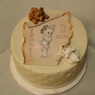 Teddy bears and baby - Cake by Anka