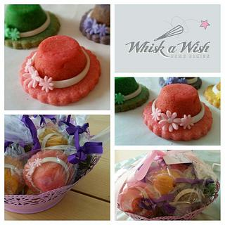 mother's day hat cookies - Cake by whisk a wish homebaking