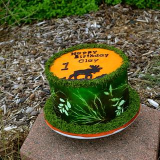 Moose Hunter Camo Cake