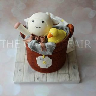 Baby basket with toys