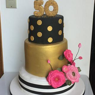 50th cakes flower