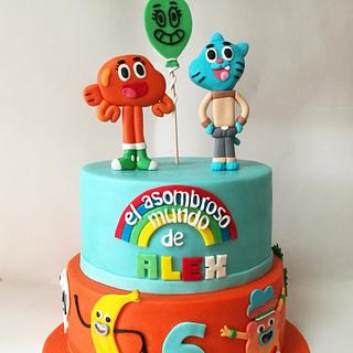 Pastel gumboll - Cake by Carcakes