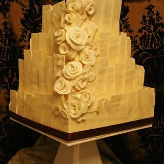 White Chocolate Shard Cake - Cake by Floriana Reynolds