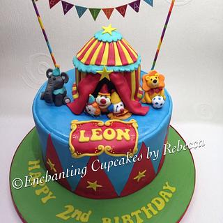Leon's circus - Cake by Enchanting Cupcakes hobby cakes