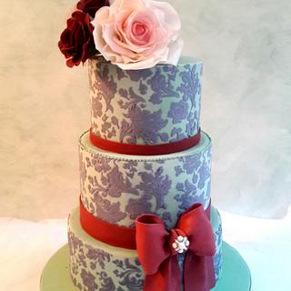 Blue Damask. - Cake by SoniaL