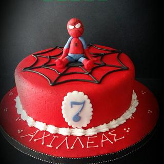 Little Spiderman is here!  - Cake by LiliaCakes