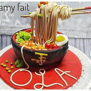 Noodles cake