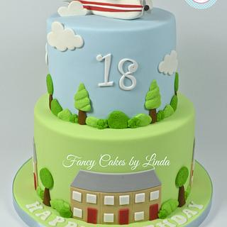 Aeroplane Themed Birthday Cake (Airplane)