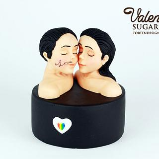 Be my Valentine Collab Cake - Faces of Love - Cake by Valentina's Sugarland