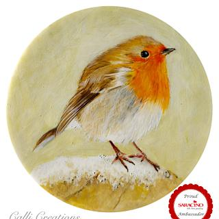 Christmas Robin - painting demo