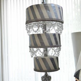wedding showstopper chandelier cake