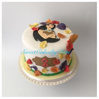 """Pocahontas """"Colors of the Wind"""" Cake"""