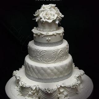silver anniversary  - Cake by Antonella Di Maria