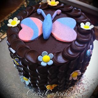 Butterfly Petal Cake