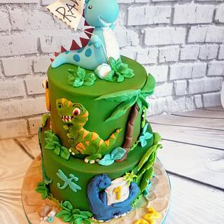 1st birthday Dino's - Cake by Hilz