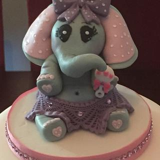 Elephant baby shower cake