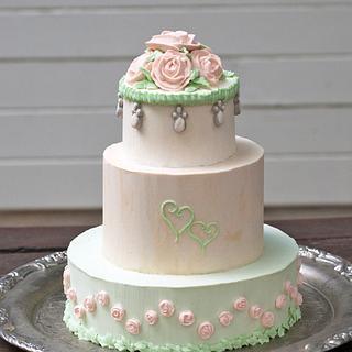 VIntage wedding cake - Cake by Yvonne Janowski