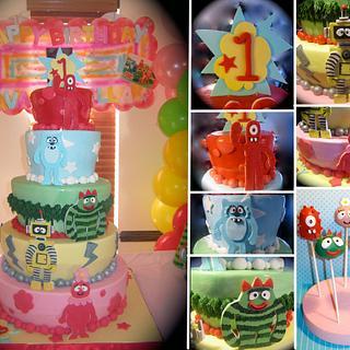 Yo Gabba Gabba Cake - Cake by Jamie Cupcakes