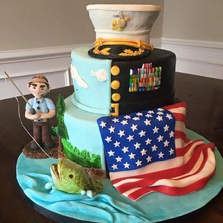 USMC Retirement Cake - Cake by Kim