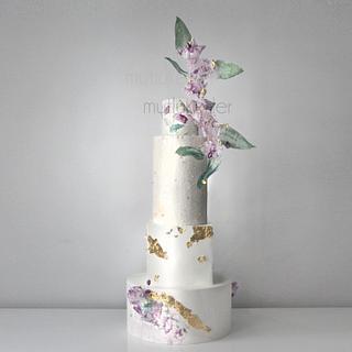 New Modern Wedding cake