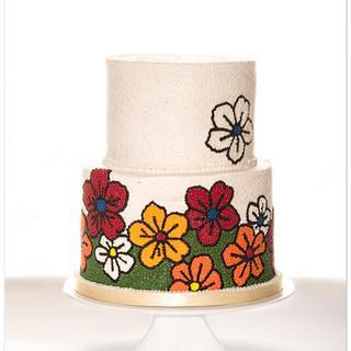 Buttercream Wedding Cake - Cake by Olivia's Bakery
