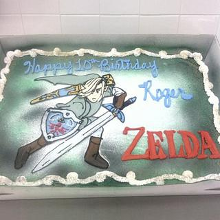 Zelda, drawn free-hand with bettercreme icing