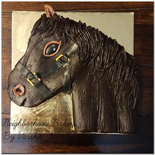 Horse theme cake  - Cake by Varsha Bhargava