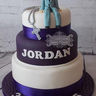 10 yr olds christening - Cake by kerrycakesnewcastle
