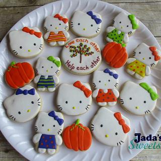 Hello Kitty Halloween cookies