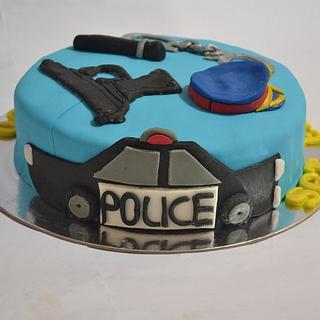 Super Police Theme 11 Cakes Cakesdecor Funny Birthday Cards Online Necthendildamsfinfo