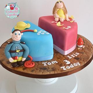 Split cake for twins