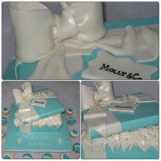 Tiffany box Communion Cake