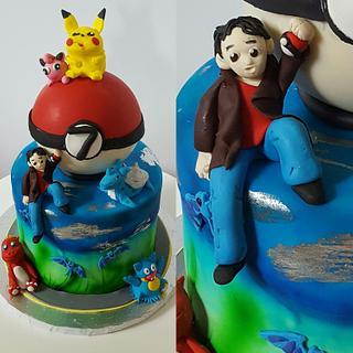 Pokemon Go  - Cake by Piece O'Cake