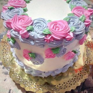 Rosetones en crema