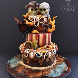 Dead pirates wedding cake!
