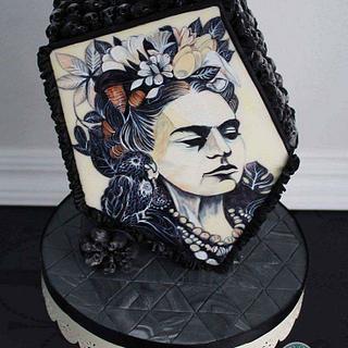 Frida Kahlo Cake# Sugar Skull Bakers#Mexico#handpainted