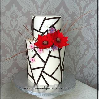 Geometric Asymmetric Wedding Cake