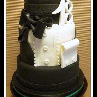 """Cake for 18th birthday boy - Cake by """"Le torte artistiche di Cicci"""""""