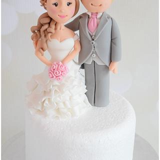 Bride & Groom Topper - Cake by Dollybird Bakes
