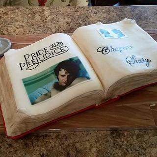 Pride and Prejudice Open Book Cake