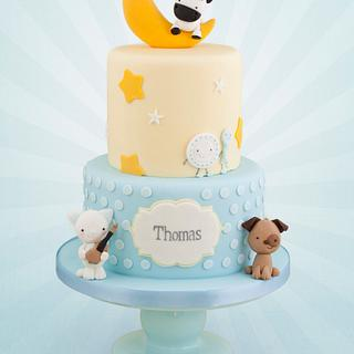 Hey Diddle Diddle Christening Cake