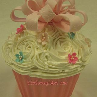 Giant birthday cupcake