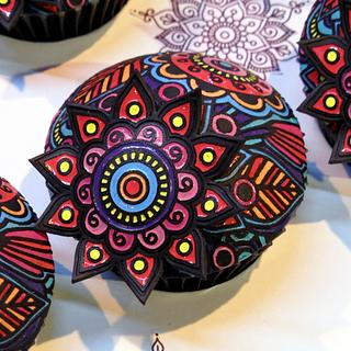 Colouring Book Cupcakes