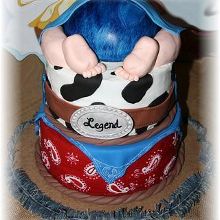 """Western Baby Bottom """"Legend"""" - Cake by Tammy Mashburn"""