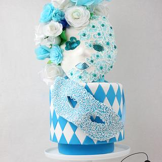 Masks in blue - Sweet World Carnival Collaboration