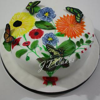 Hand painted cake (2)